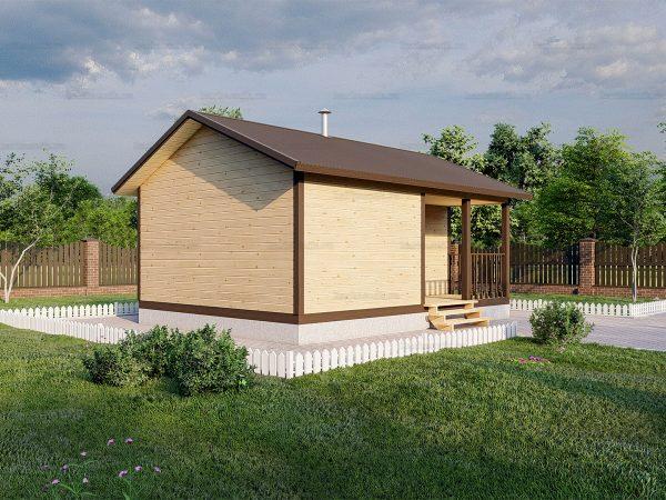 Проект каркасной бани 4.5х6