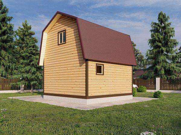 Баня 4,5х4,5 с ломаной крышей фото 3