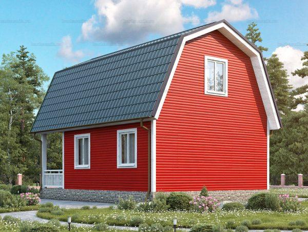 Проект каркасного зимнего дома 8х6 для строительства под ключ