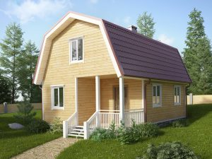 Деревянный дом 8х6