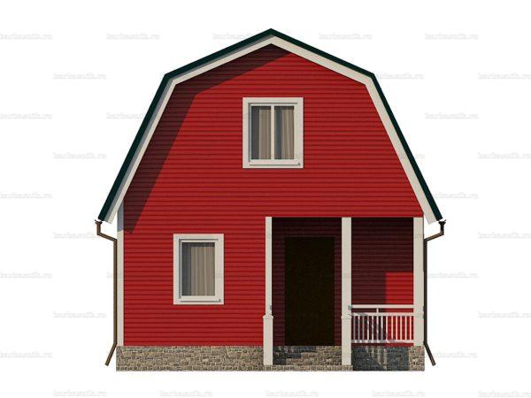 Каркасный дом 8х6 фото 6