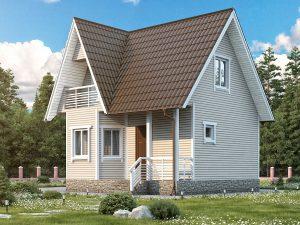 Дом с каркасными стенами 7 на 7