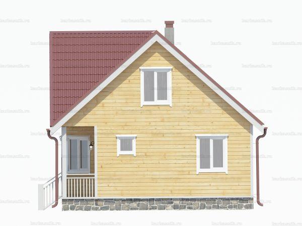 Дом из бруса с мансардой 7x7 фото 3