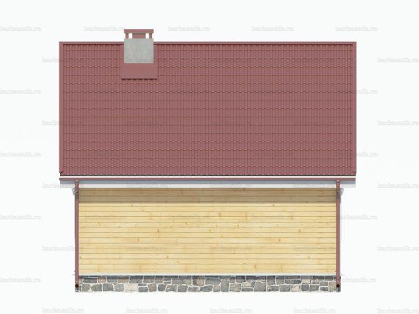 Дом из бруса с мансардой 7x7 фото 4
