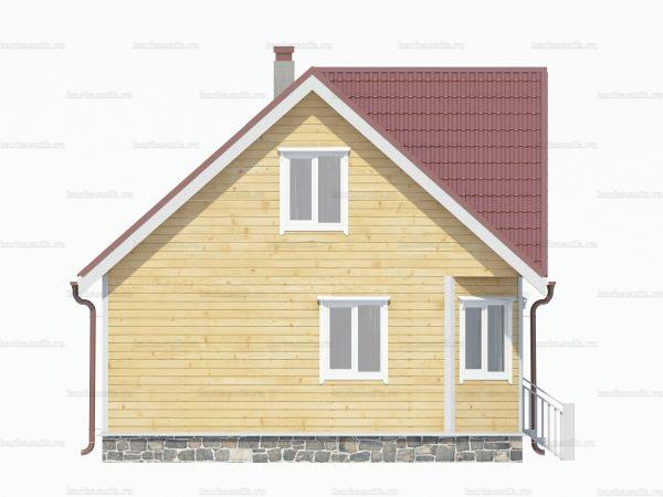 Дом из бруса с мансардой 7x7 фото 5