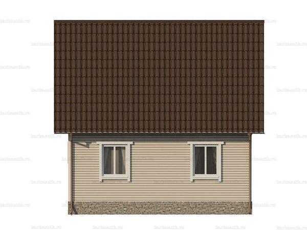 Дом с каркасными стенами 7 на 7 фото 4