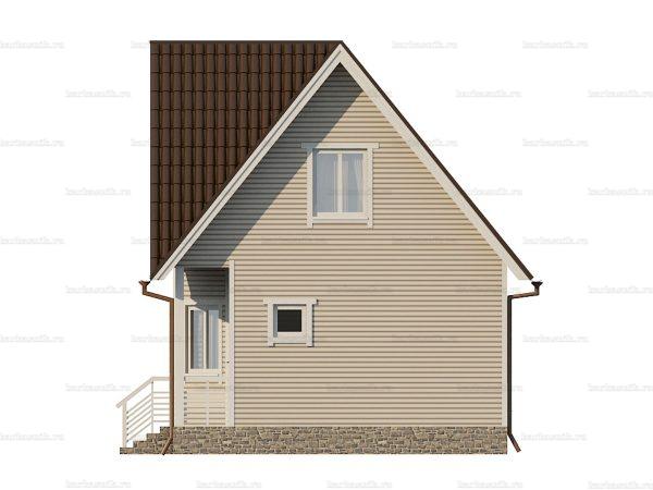 Дом с каркасными стенами 7 на 7 фото 3