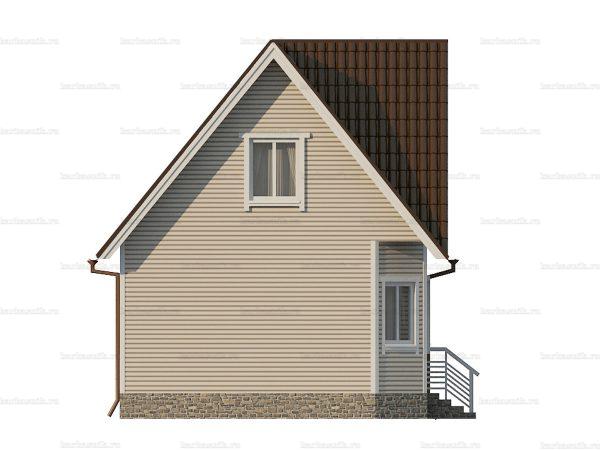 Дом с каркасными стенами 7 на 7 фото 5
