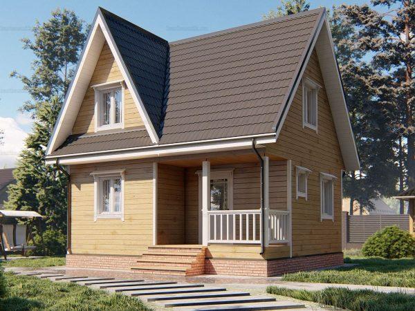Дом с внутренней отделкой 7х6