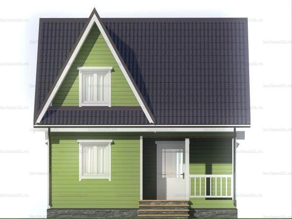Каркасный дом с террасой и мансардой 7х6 фото 3