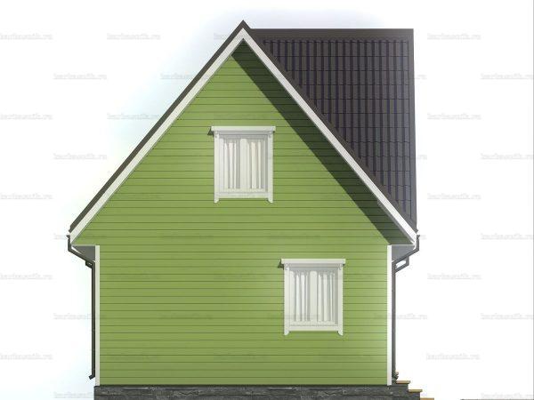 Каркасный дом с террасой и мансардой 7х6 фото 4