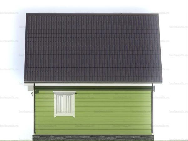 Каркасный дом с террасой и мансардой 7х6 фото 5