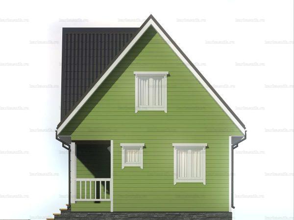 Каркасный дом с террасой и мансардой 7х6 фото 6