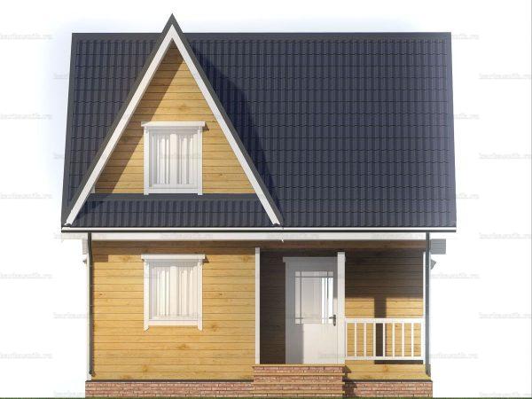 Дом с внутренней отделкой 7х6 фото 3