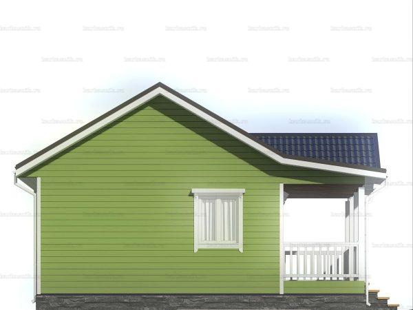 Одноэтажный коттедж для проживания 8х8 фото 4