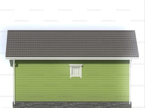 Одноэтажный коттедж для проживания 8х8 фото 5