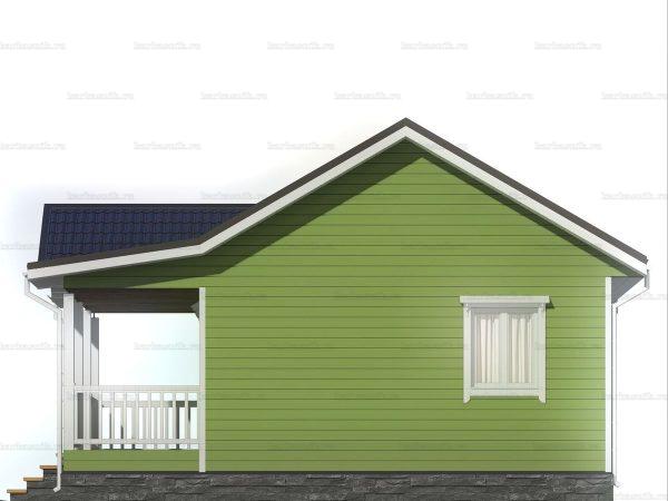 Одноэтажный коттедж для проживания 8х8 фото 6