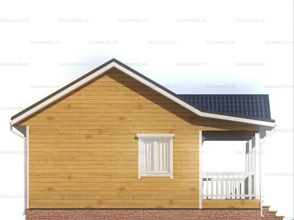 Дом с открытой верандой 8х8 фото 4