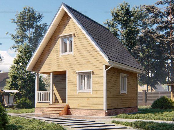 Красивый дом 6х6