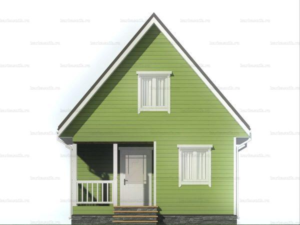 Дачный дом с двухскатной крышей 6х6 фото 3