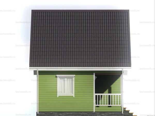 Дачный дом с двухскатной крышей 6х6 фото 4