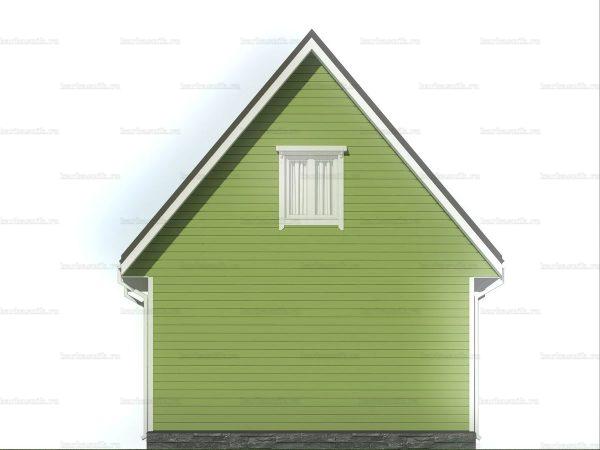 Дачный дом с двухскатной крышей 6х6 фото 5