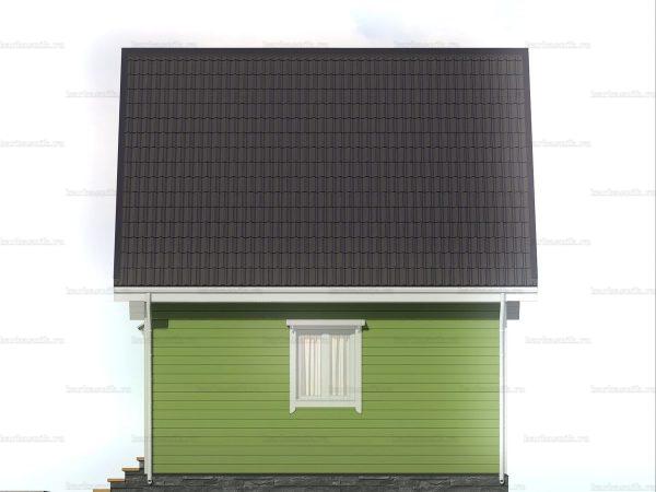 Дачный дом с двухскатной крышей 6х6 фото 6