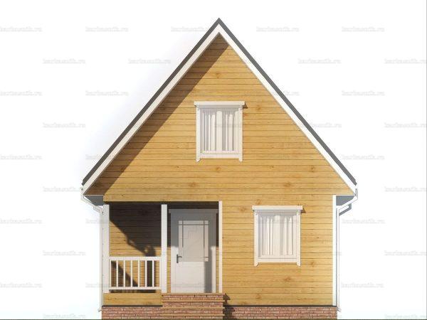 Красивый дом 6х6 фото 3