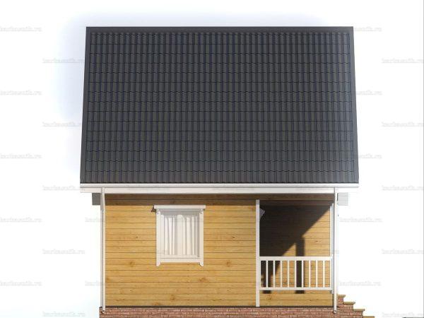 Красивый дом 6х6 фото 4