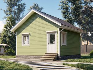 Дачный дом один этаж 6 на 6