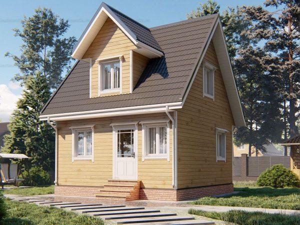 Дом с хорошей планировкой 6х6