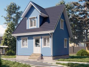 Садовый домик с двумя комнатами 6х6