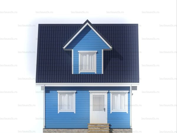 Садовый домик с двумя комнатами 6х6 фото 3