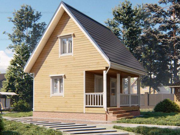 Теплый дом 6 на 6