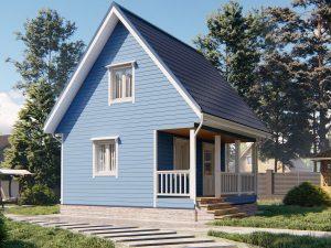 Дачный дом с отделкой под ключ 6 на 6