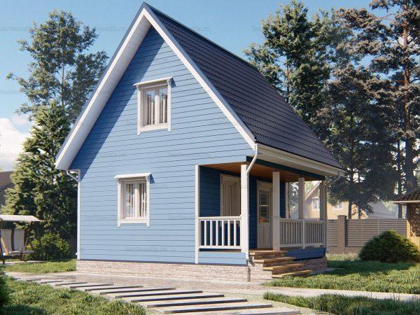 3D-проект каркасного дома 6х6