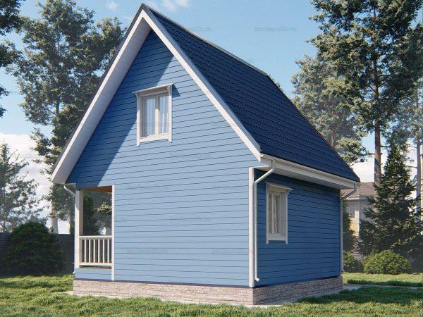 Проект каркасного дачного дома 6х6 для строительства под ключ