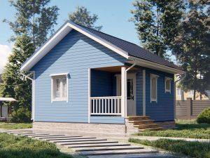 Одноэтажный дачный дом 6х6