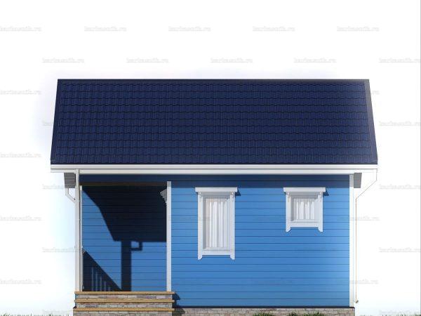 Одноэтажный дачный дом 6х6 фото 6