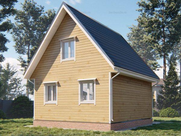 Проект деревянного коттеджа 7х6 из бруса для постоянного проживания зимой