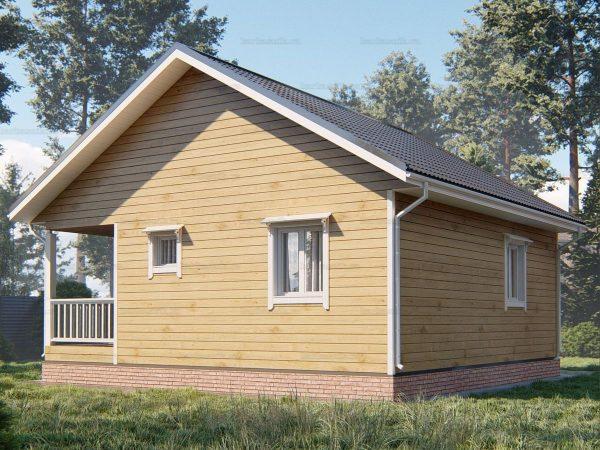 Проект деревянного коттеджа 8х8 из бруса для постоянного проживания зимой