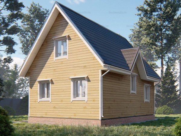 Проект деревянного коттеджа 9х6 из бруса для постоянного проживания зимой