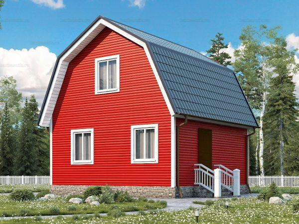 Дачный каркасный дом 6х6