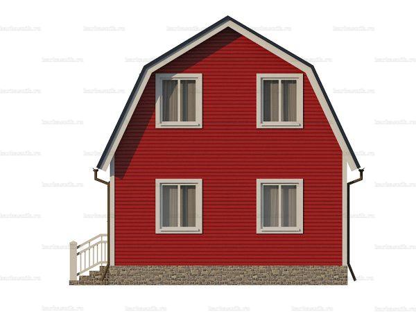 Дачный каркасный дом 6х6 фото 5