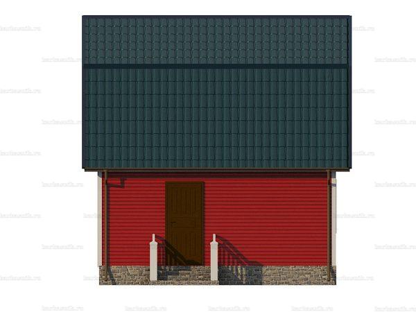 Дачный каркасный дом 6х6 фото 4