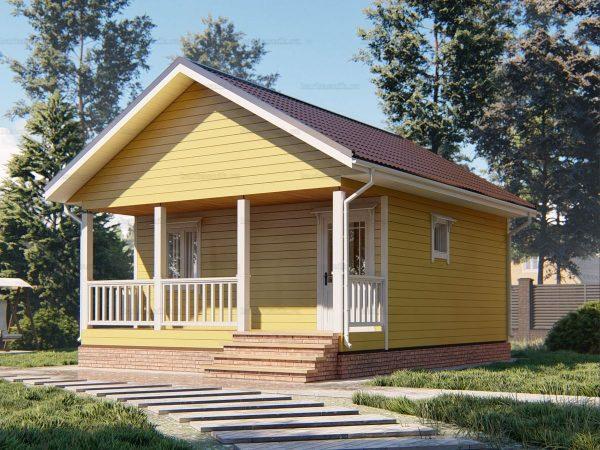 Дачный дом с террасой 7.5х6