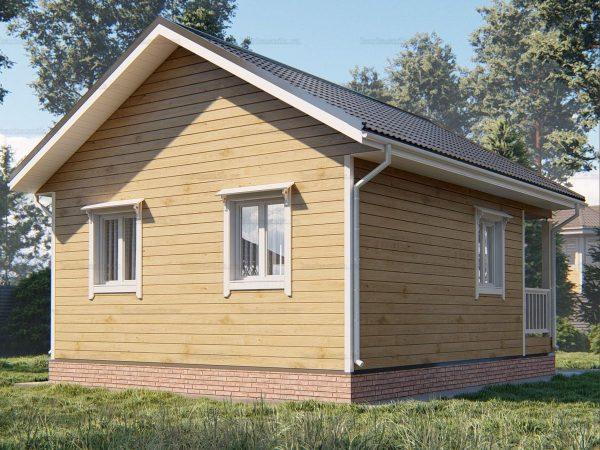 Проект дачного домика 7.5х6 для проживания