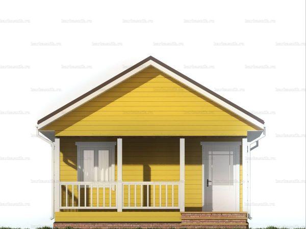 Дачный дом с террасой 7.5х6 фото 6