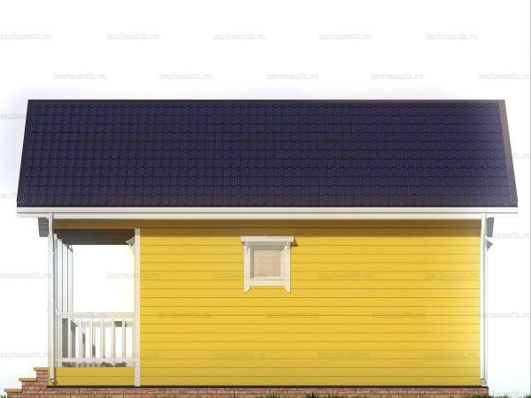 Дачный дом с террасой 7.5х6 фото 3