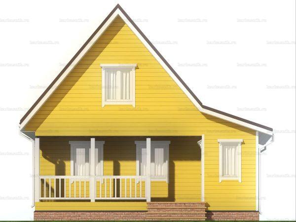 Большой каркасный дом 8х7.5 фото 3